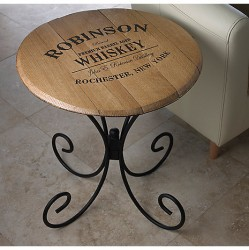 Wine Enthusiast Barrel Head Table